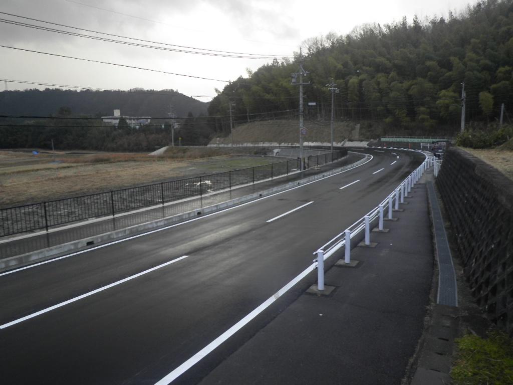 一般県道上笠間八幡名張道路改良工事
