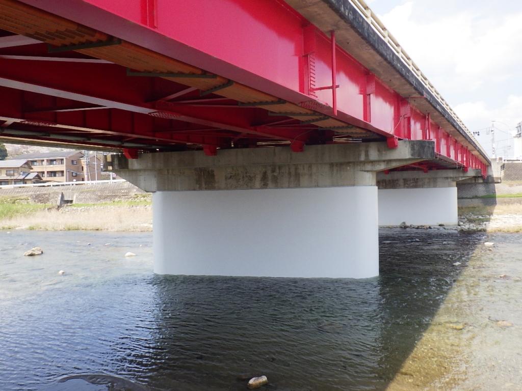 一般国道165号線(新夏見橋)橋梁耐震対策工事